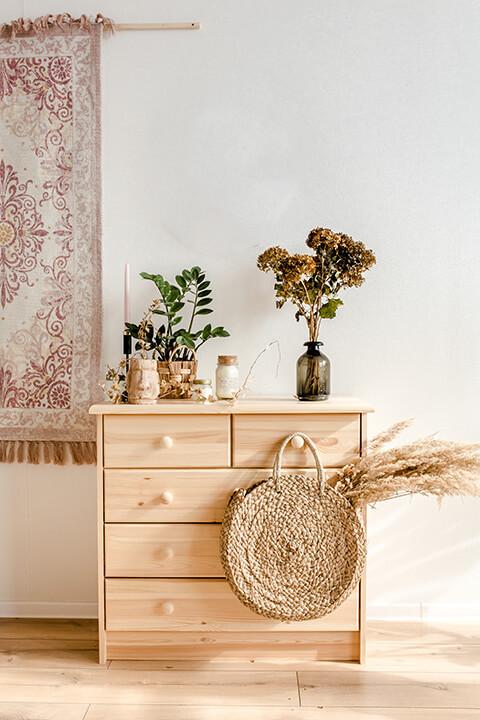 Decoración hygge con madera