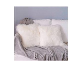 Fundas de cojines de suave piel de lana para decoración Hygge