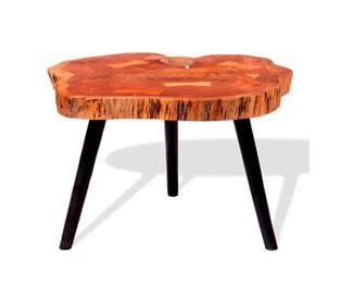 Mesa Hygge auxiliar tronco de madera de acacia